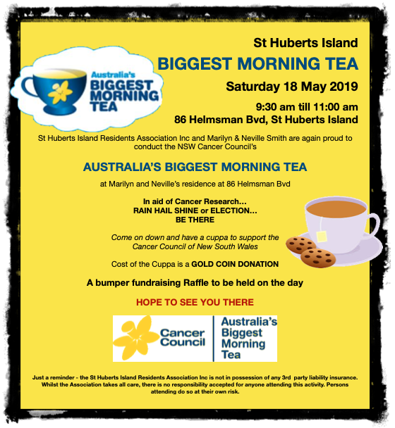 Event-2019 May-Biggest Morning Tea