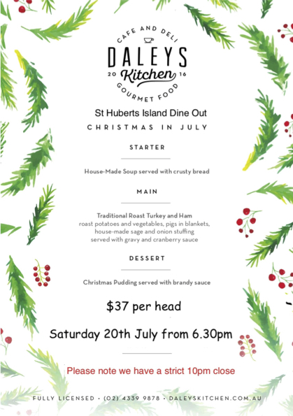 Christmas In July Australia 2019.Event 2019 Jul Christmas In July St Huberts Island New